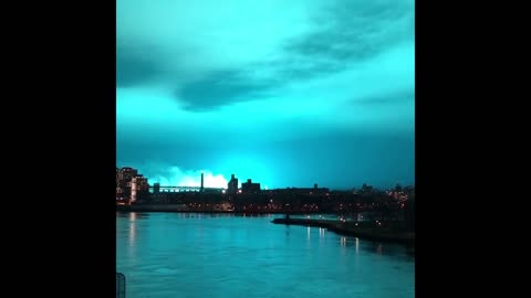 Archive US: Power Plant Explosion Turns Sky into Blue in